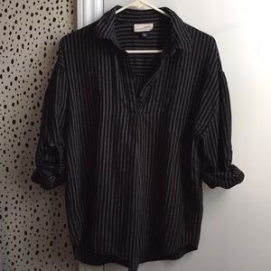 Universal Thread top black with the white stripes